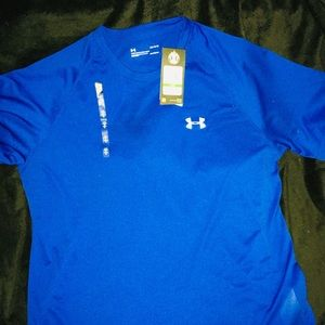 Under Armour Royal men's short sleeve shirt sz LG